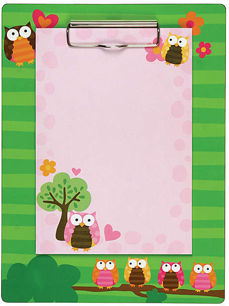 Owl Clipboard & Notepad