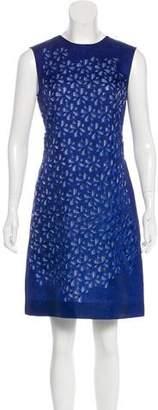 Fendi Laser Cut Geometric Dress