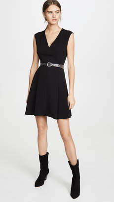 Theory Pleated Cap Dress