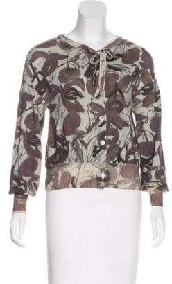 Philosophy di Alberta Ferretti Wool Button-Up Cardigan
