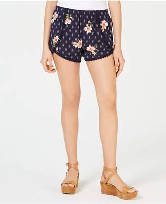 BeBop Juniors' Printed Pompom-Trimmed Soft Shorts