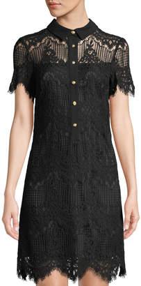 Tahari ASL Lace Detail Mini Sheath Dress