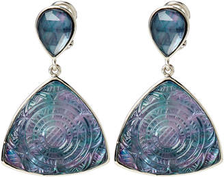 Stephen Dweck Mother-of-Pearl & Hematite Etched Drop Earrings