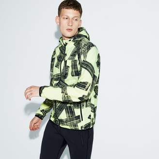 Lacoste Men's SPORT Hooded Print Tennis Jacket
