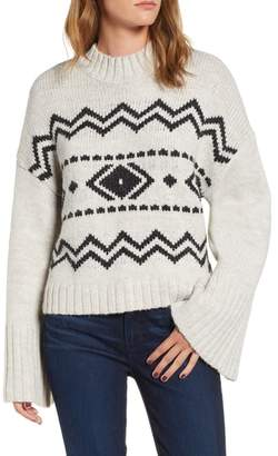 Cupcakes And Cashmere Slouchy Jacquard Sweater