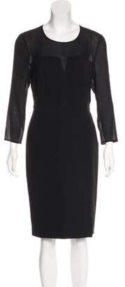 Burberry Sheer-Paneled Sheath Dress