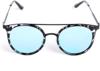 Quay Kandy Gram Black Tortoise Round Sunglasses