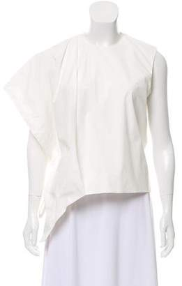 J.W.Anderson Balloon Sleeve Tie-Accented Top w/ Tags