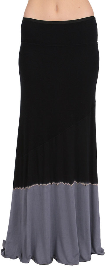 Michelle Jonas Ricky Skirt in Black Tie Dye