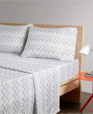 Jla Home Intelligent Design Multicolor Chevron 3-pc Twin Xl Microfiber Printed Sheet Bedding