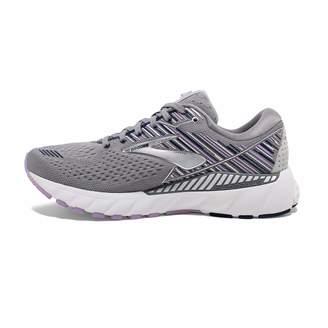 Brooks Women's Adrenaline GTS 19 D Width Running Shoe (BRK-120284 1D 4248750 7 Black/Purple/C)
