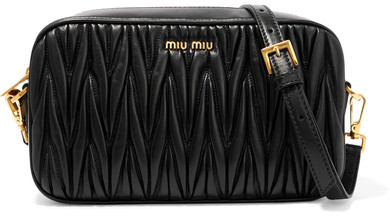 Miu MiuMiu Miu - Matelassé Leather Camera Bag - Black