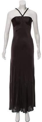 Robert Rodriguez Satin Evening Dress