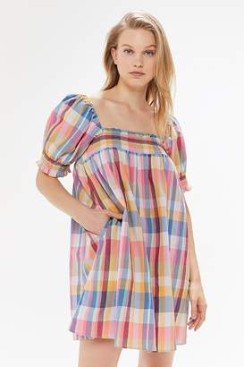 Urban Outfitters Puff Sleeve Babydoll Dress