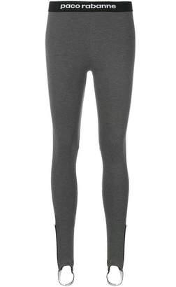 Paco Rabanne logo-waistband leggings