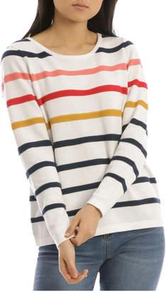 Regatta L/Slv Crew Neck Mutil Coloured Stripe Jumper