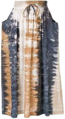 Raquel Allegra tie-dye print skirt