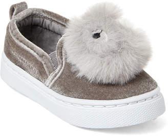 Capelli New York (Toddler Girls) Googly Pom-Pom Slip-On Sneakers