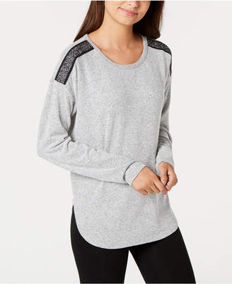 INC International Concepts I.n.c. Metallic-Trim Pajama Top