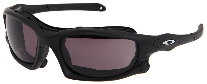 Oakley Wind Jacket (Matte Black/Warm Grey/Clear Lens) - Eyewear