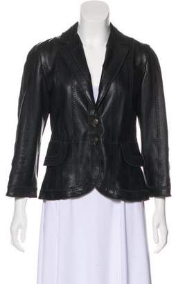 Just Cavalli Textured Leather Jacket