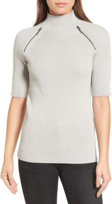 Kenneth Cole New York Elbow Sleeve Mock Neck Sweater