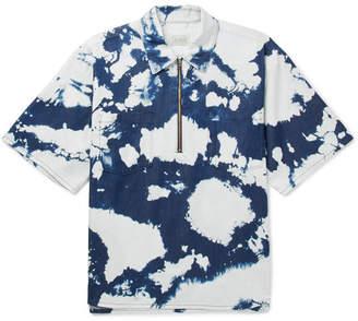Aries D Tie-Dyed Cotton Half-Zip Shirt
