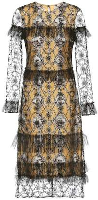 Burberry Dress with tulle overlay