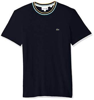 Lacoste Men's Short Sleeve Jersey Contrast Collar Tee