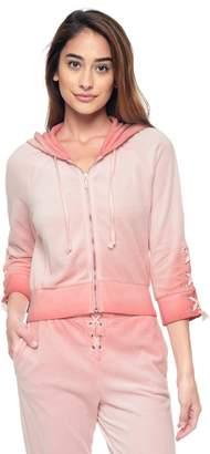 Juicy Couture Velour Lace Up Jacket