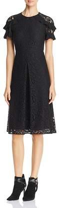 Burberry Ruffle Sleeve Lace Dress