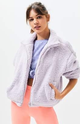La Hearts Lilac Sherpa Jacket