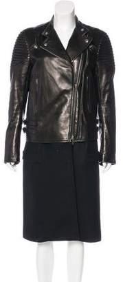 Givenchy Nappa Leather Biker Coat