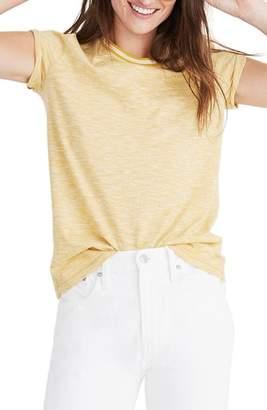 Madewell Whisper Cotton Stripe Ringer Tee