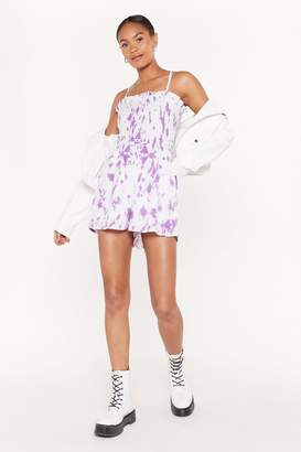 Nasty Gal Womens Do Or Tie Dye Playsuit - Purple - 4, Purple