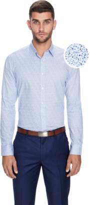 yd. BLUE PENN SLIM FIT DRESS SHIRT