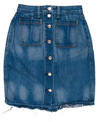 Rag & Bone Denim Knee-Length Skirt
