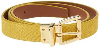 Isaac Mizrahi Live! Reversible Leather Strap Belt