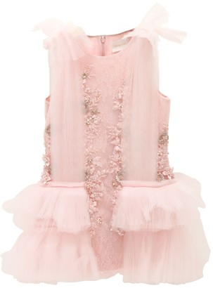 Silk Organza & Lace Party Dress