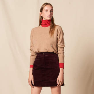 Sandro Corduroy A-line skirt with large pockets