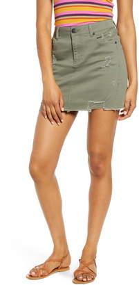 1822 Denim Distressed Denim Miniskirt