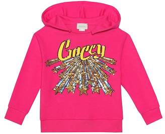 Gucci Kids Sequined cotton hoodie