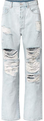 Unravel Project - Distressed Boyfriend Jeans - Light denim