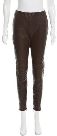 Ralph Lauren Skinny-Leg Leather Pants