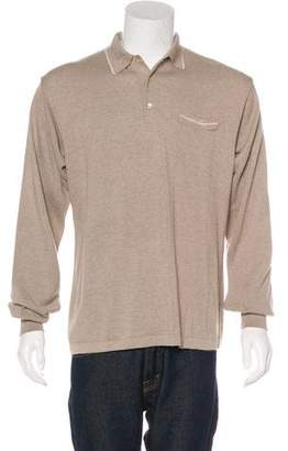 Façonnable Knit Polo Sweater