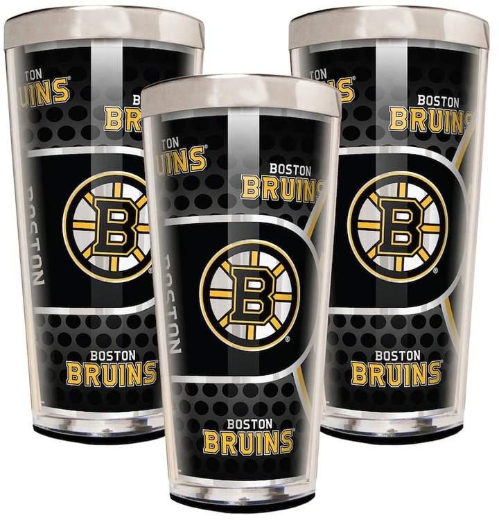 NHL Boston Bruins 3-Piece Shot Glass Set