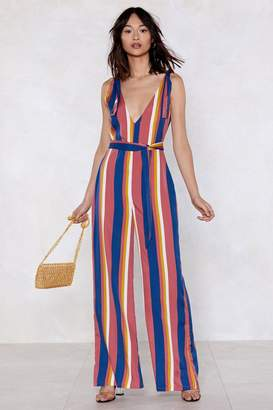 Nasty Gal Straight Up Striped Jumpsuit