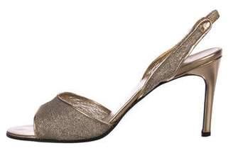 Saint Laurent Metallic Slingback Sandals