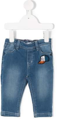 Little Marc Jacobs patched denim jeans