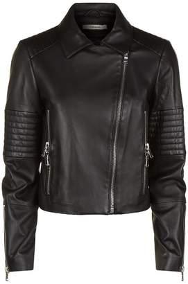J Brand Aiah Leather Biker Jacket